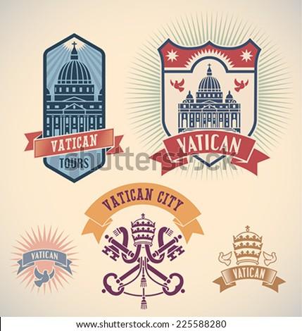 set of retro styled vatican