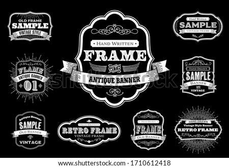 Set of Retro Vintage Badges and Labels in illustration vector, EPS 10.