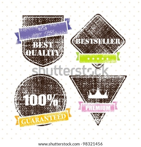 set of retro vintage grunge labels