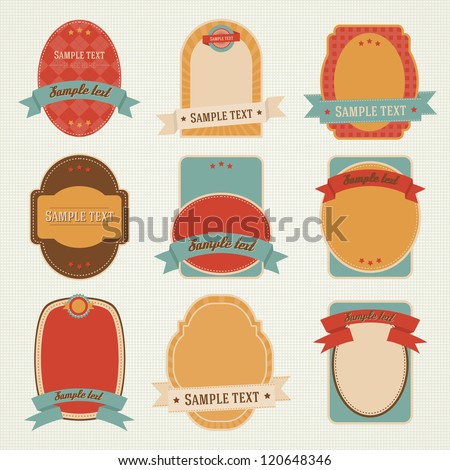 Set of retro vintage vector labels