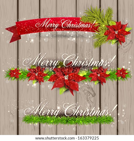 """Set of  Ribbons, Labels, Tags """"Merry Christmas and Happy New Year !"""""""