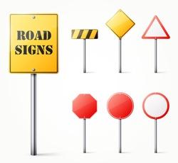 Set of road signs eps10 vector illustration