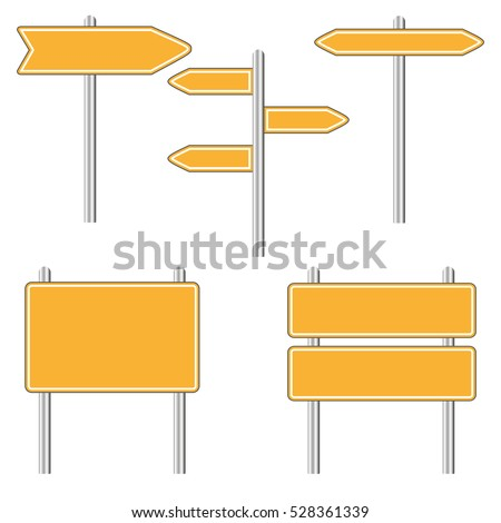 Set of Road Signs  isolated on a white background #528361339