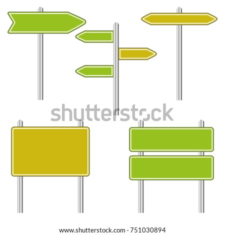 Set of Road Signs  isolated on a white background #751030894