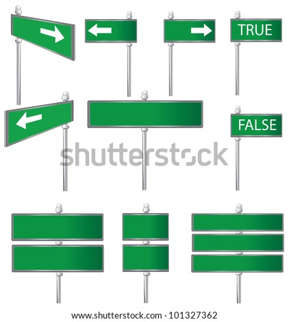 Set of Road Signs,Vector #101327362