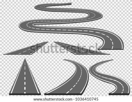 set of roads and road bends