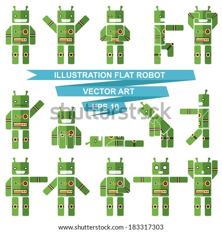 set of robots with emotions