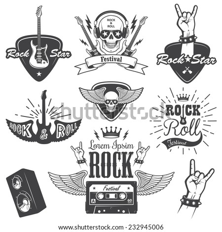 set of rock and roll music