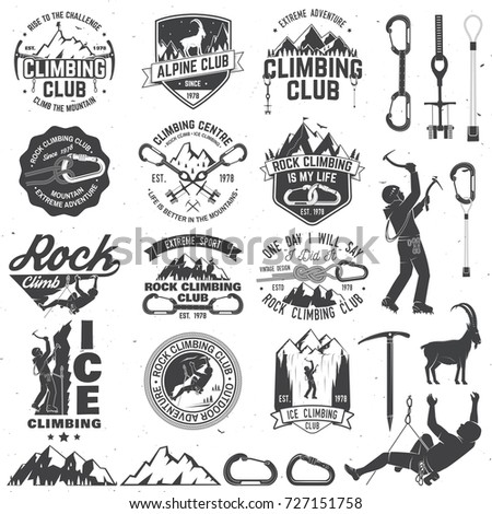 set of rock climbing club...