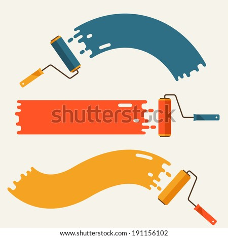 set of roller brushes with