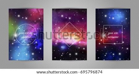 Space Postcard Vector Download Free Vector Art Stock Graphics