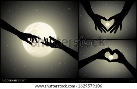 set of romantic vector