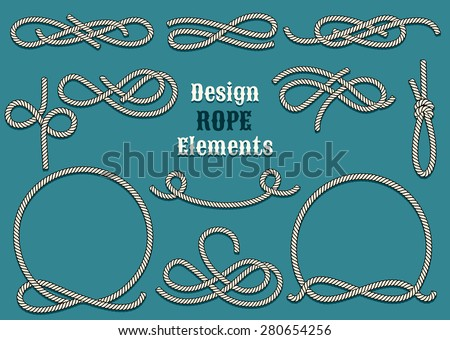 set of rope design elements....