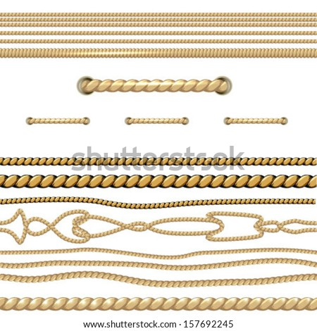 Shutterstock Set of Rope Isolated. Vector.