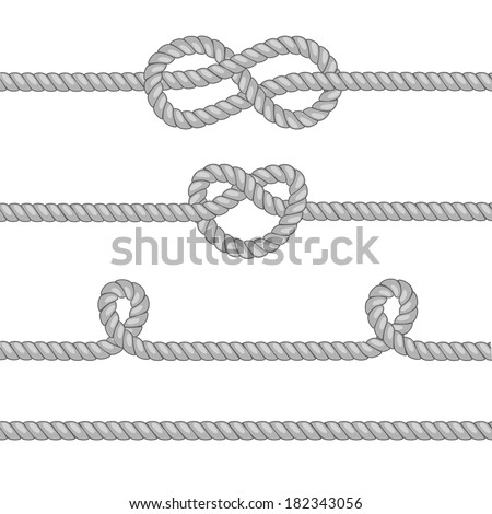 Set of ropes with knots