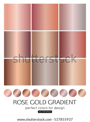 set of rose gold gradients for