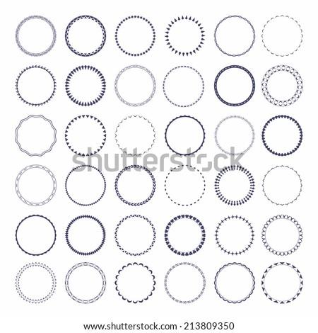 set of round and circular...