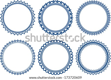 Decorative round frame set download free vector art stock set of round frames thecheapjerseys Image collections