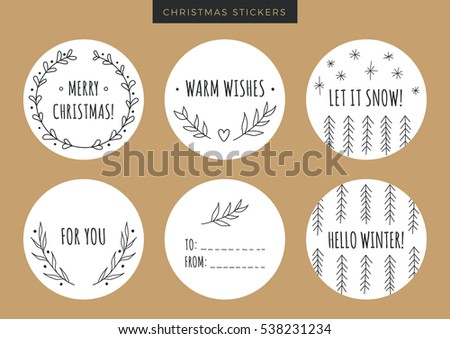 doodle christmas round wreaths download free vector art stock
