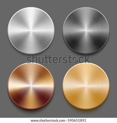 set of round templates of metal