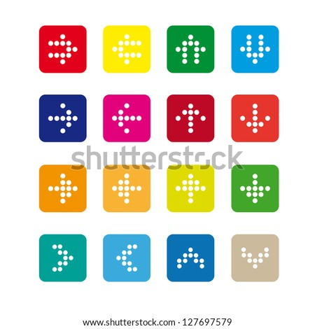 set #2 of rounded square icons with arrows