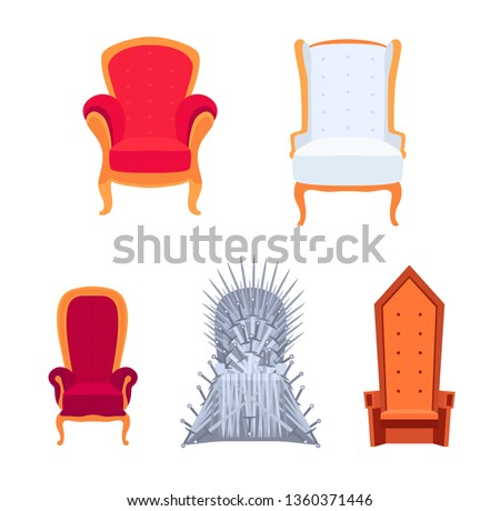 set of royal armchairs or