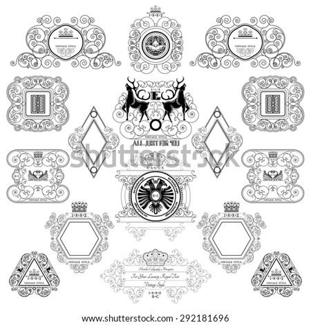 set of royal monogram design