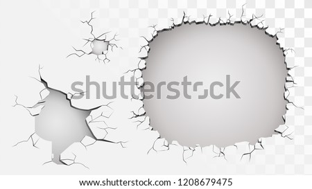 set of ruined wall on a