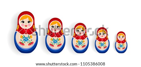 set of russian doll toys