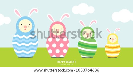 set of russian dolls bunny