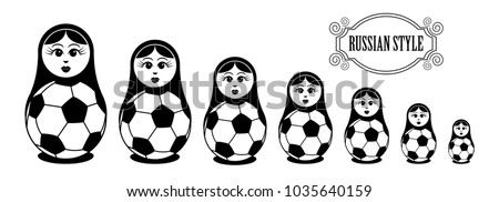 set of russian dolls with