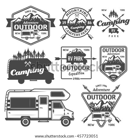 set of rv camping  outdoor...