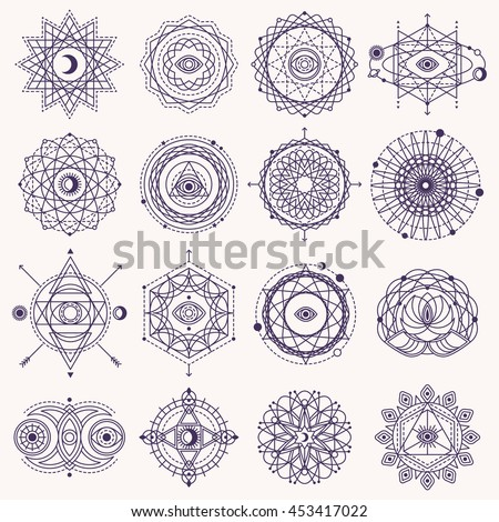 set of sacred geometry forms