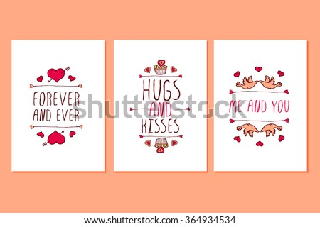 set of saint valentines day