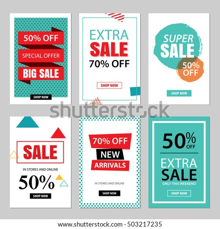 stock-vector-set-of-sale-website-banner-templates-social-media-banners-for-online-shopping-vector-illustrations