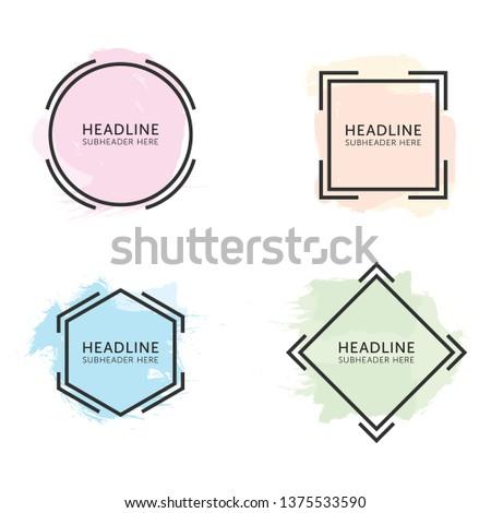 Set of Sales Headline Banners. Headline and Sale Roundel Graphic - Vector
