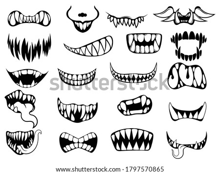 set of scary smile masks