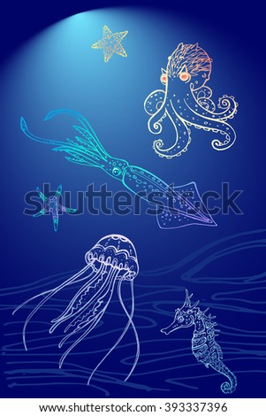 set of sea theme for your