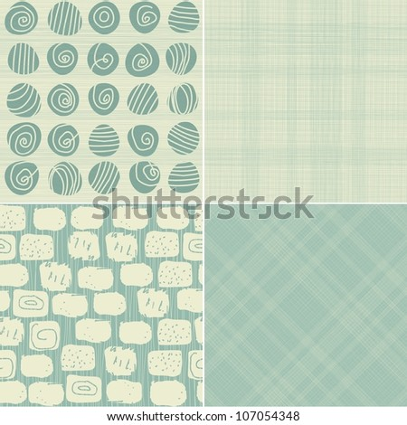 set of 4 seamless backgrounds