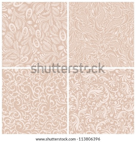Set of seamless backgrounds baroque