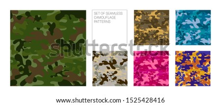 set of seamless camouflage