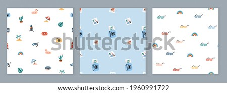 set of seamless design with