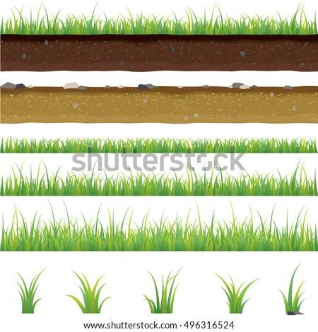 set of seamless horizontal