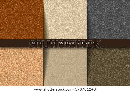 set of seamless leather