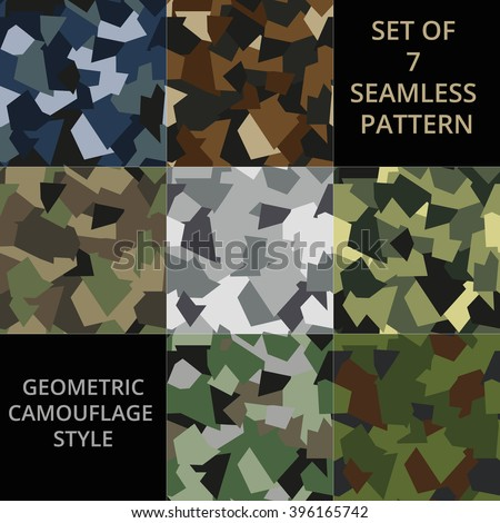 set of 7 seamless pattern