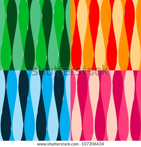 Set of seamless pattern background with dots and lines