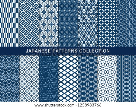 set of 14 seamless pattern in