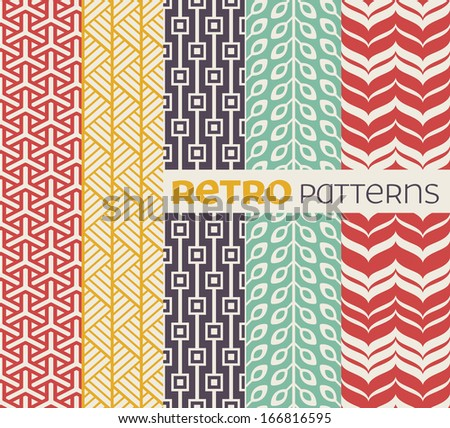 set of seamless patterns in