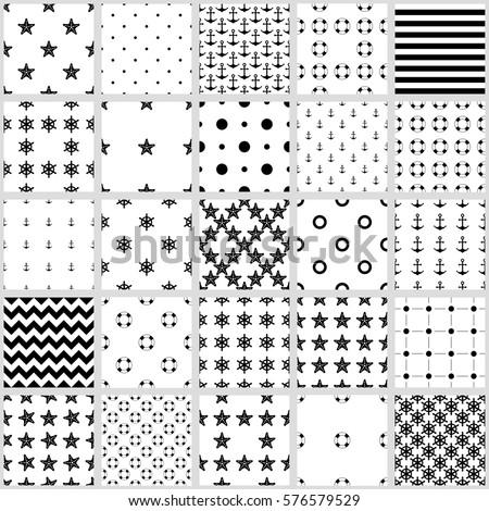 set of seamless patterns  sea