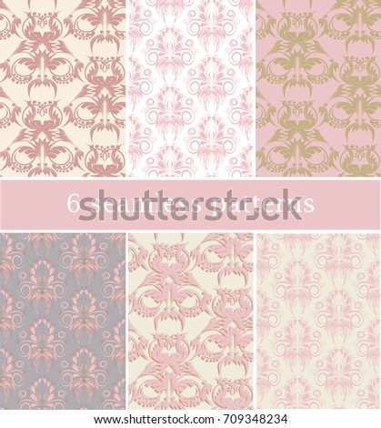 set of 6 seamless patterns